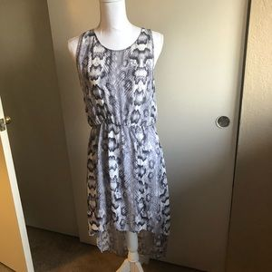 Divided Dresses - NWOT divided sheer snake print hi low dress med